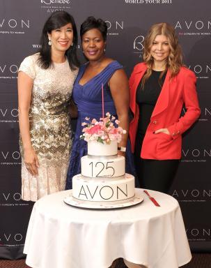 Andrea, Fergie & Avon Rep Donna Reid-Mitchell