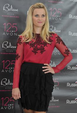 Reese Witherspoon at World Tour in Moscow