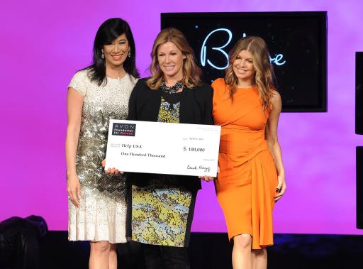 Andrea Jung and Fergie present HELP USA with $100k