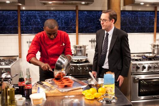 Marcus Samuelsson & host Ted Allen