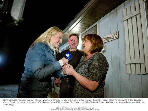 HGTV Dream Home Giveaway Winner with Monica Pedersen