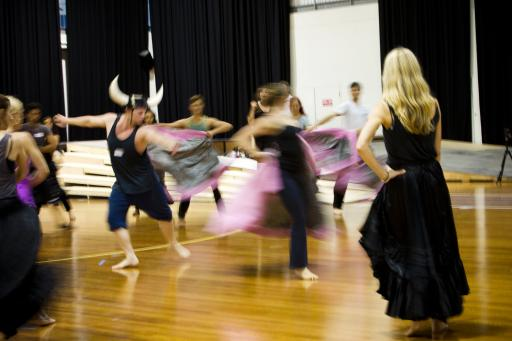 Dancers rehearse for Opera on Sydney Harbour