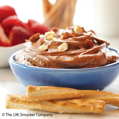 Decadent Chocolate Hazelnut Fruit Dip