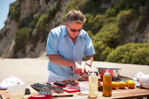 Tim Love cooking
