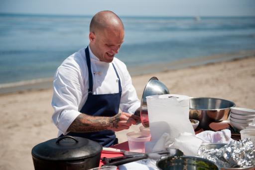 Nate Appleman cooking