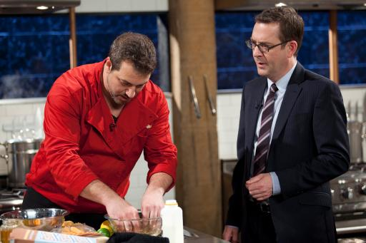 Joey Fatone and Ted Allen