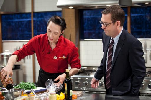 Johnny Weir and Ted Allen
