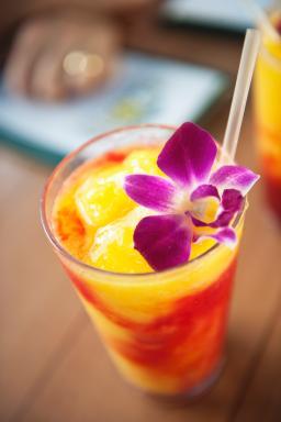 Tropical beverage in Hawaii