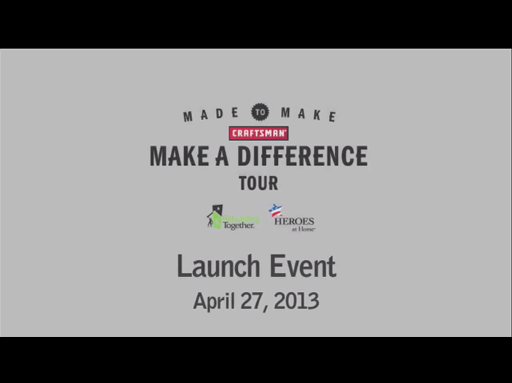 Craftsman 'Make a Difference Tour' Launch Event