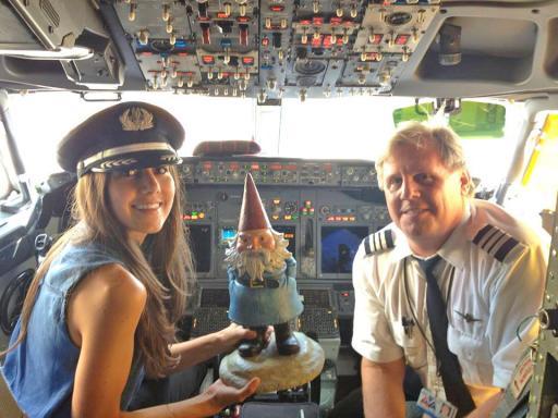 Captain Courtney and Co-Pilot Roaming Gnome