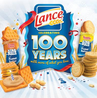Lance® Sandwich Crackers celebrates 100 years with more of what you love
