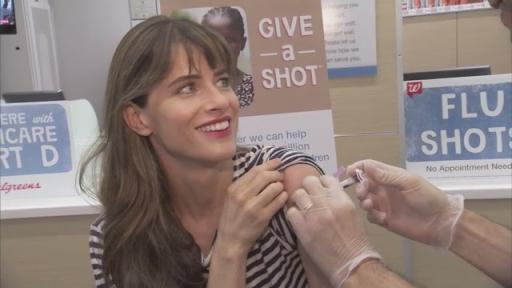 B-Roll: Amanda Peet, Ambassador of Shot@Life, Gets Flu Shot at Walgreens