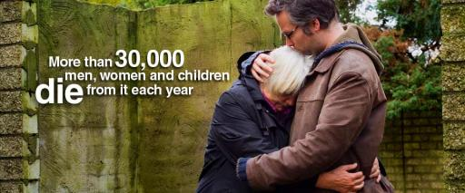 More than 30,000 men, women and children die from it each year