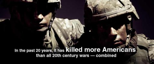 In the past 20 years, it has killed more Americans than all 20th century wars—combined