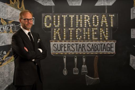 Alton Brown, Host of Food Network's Cutthroat Kitchen: Superstar Sabotage