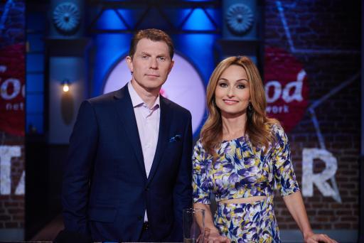 Bobby Flay and Giada De Laurentiis on Food Network Star