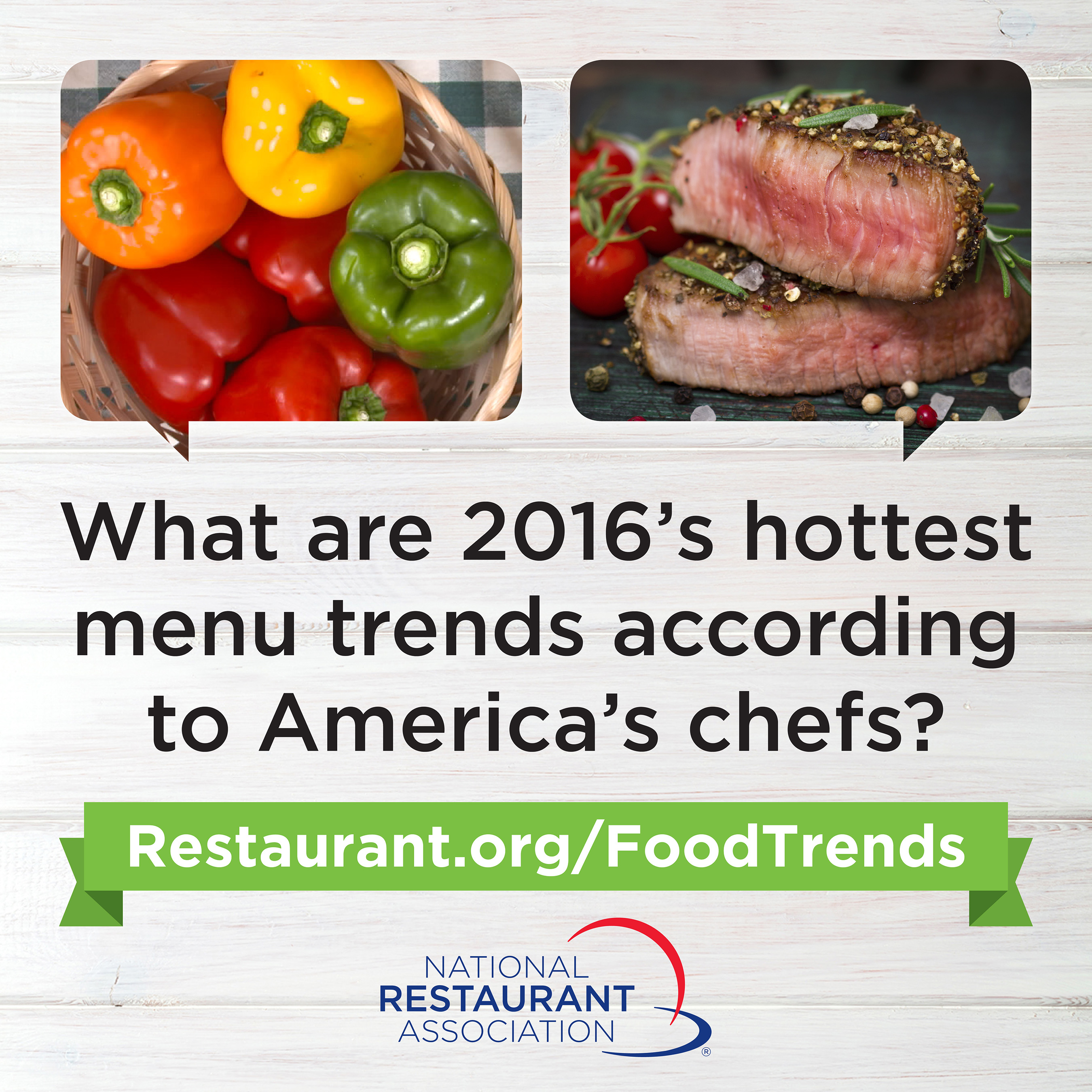 The National Restaurant Association releases What's Hot in 2016 Culinary Forecast
