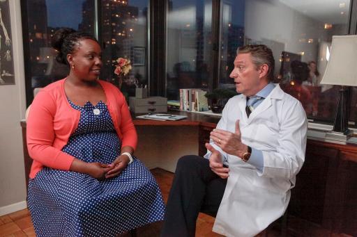 Dr. Steven Lamm and CeCe Olisa, My Healthy™ Participant