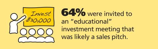 Educational sales pitches