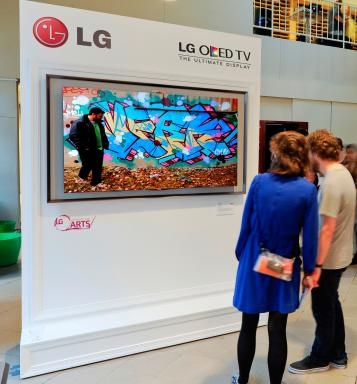LG donated one Ultra HD 4K TV and OLED TV to each school participating in The Art of the Pixel