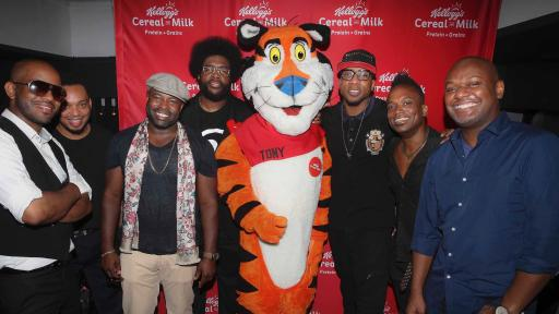 Grammy Award-winning band The Roots join Tony the Tiger at Kellogg's Recharge Bar