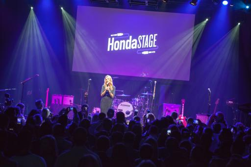 Ellen K announces American Authors during the Honda Stage performances.