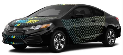 3BallMTY custom-designed and autographed Honda Civic Coupe EX-L