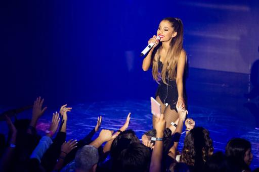 Ariana Grande performs on the Honda Stage at the iHeart Radio Theatre