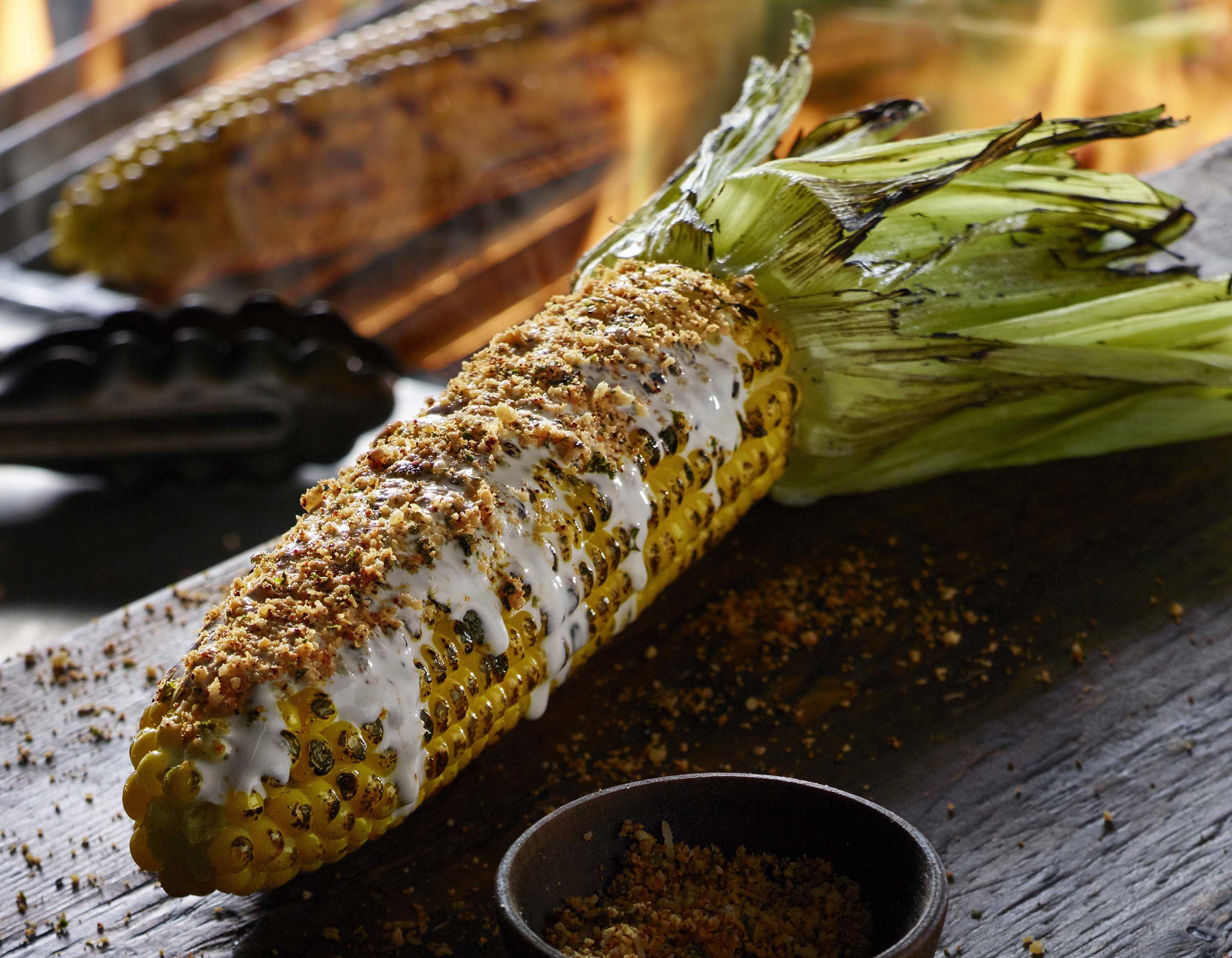 Fire-Grilled Corn on the Cob