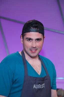 Contestant August Dannehl on Food Network's All-Star Academy