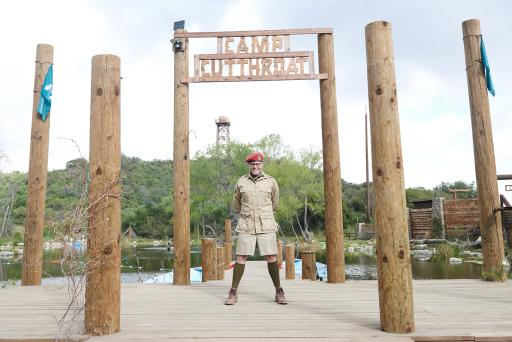 Host Alton Brown on Food Network's Camp Cutthroat