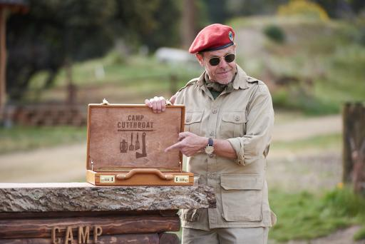 Host Alton Brown of Food Network's Camp Cutthroat