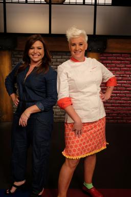 Hosts Rachael Ray and Anne Burrell of Food Network's Worst Cooks in America Celebrity Edition