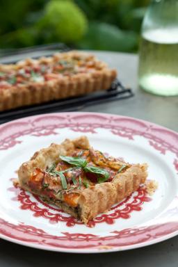 Romantic Prairie Cookbook Savory Tart, Photo: Mark Lohman