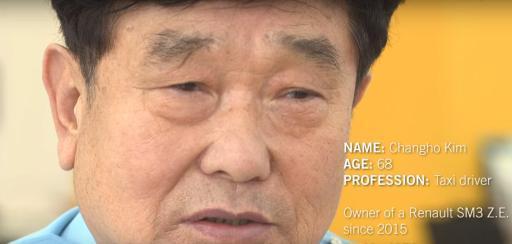 Portrait of an EV taxi driver on Jeju Island, South Korea