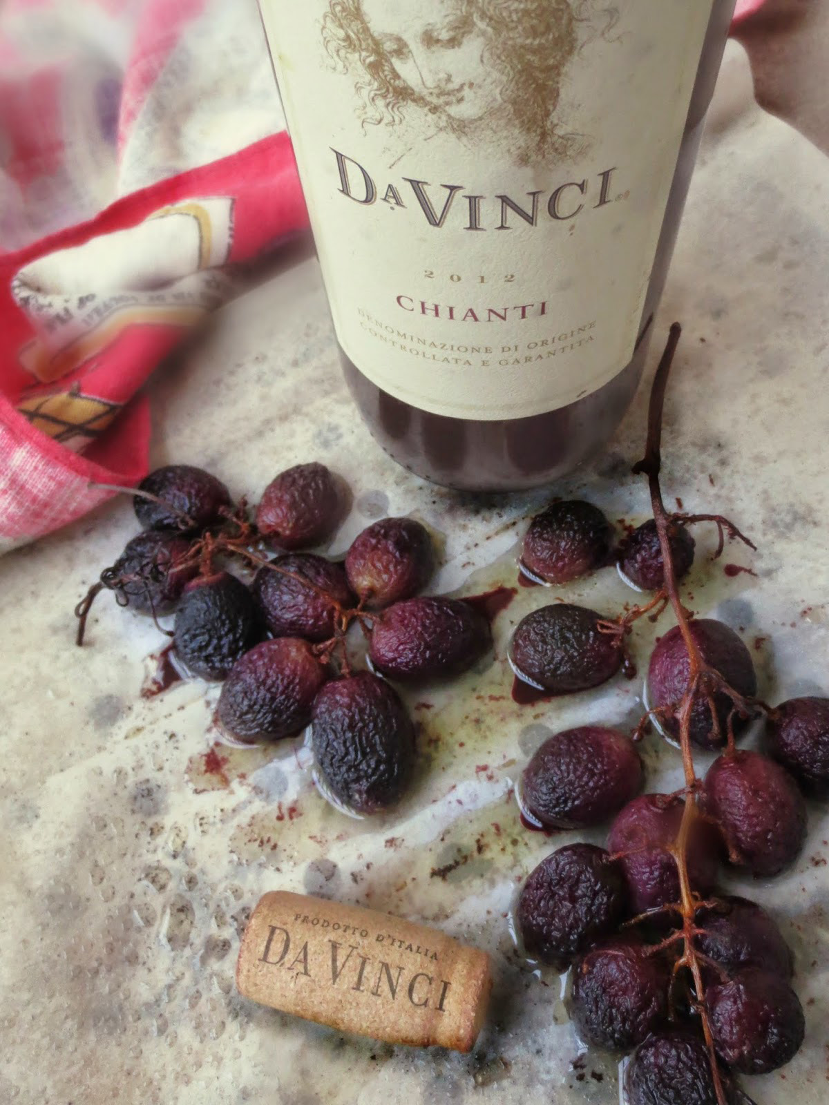 Chianti Soaked Grapes for Roasted Butternut Squash Risotto