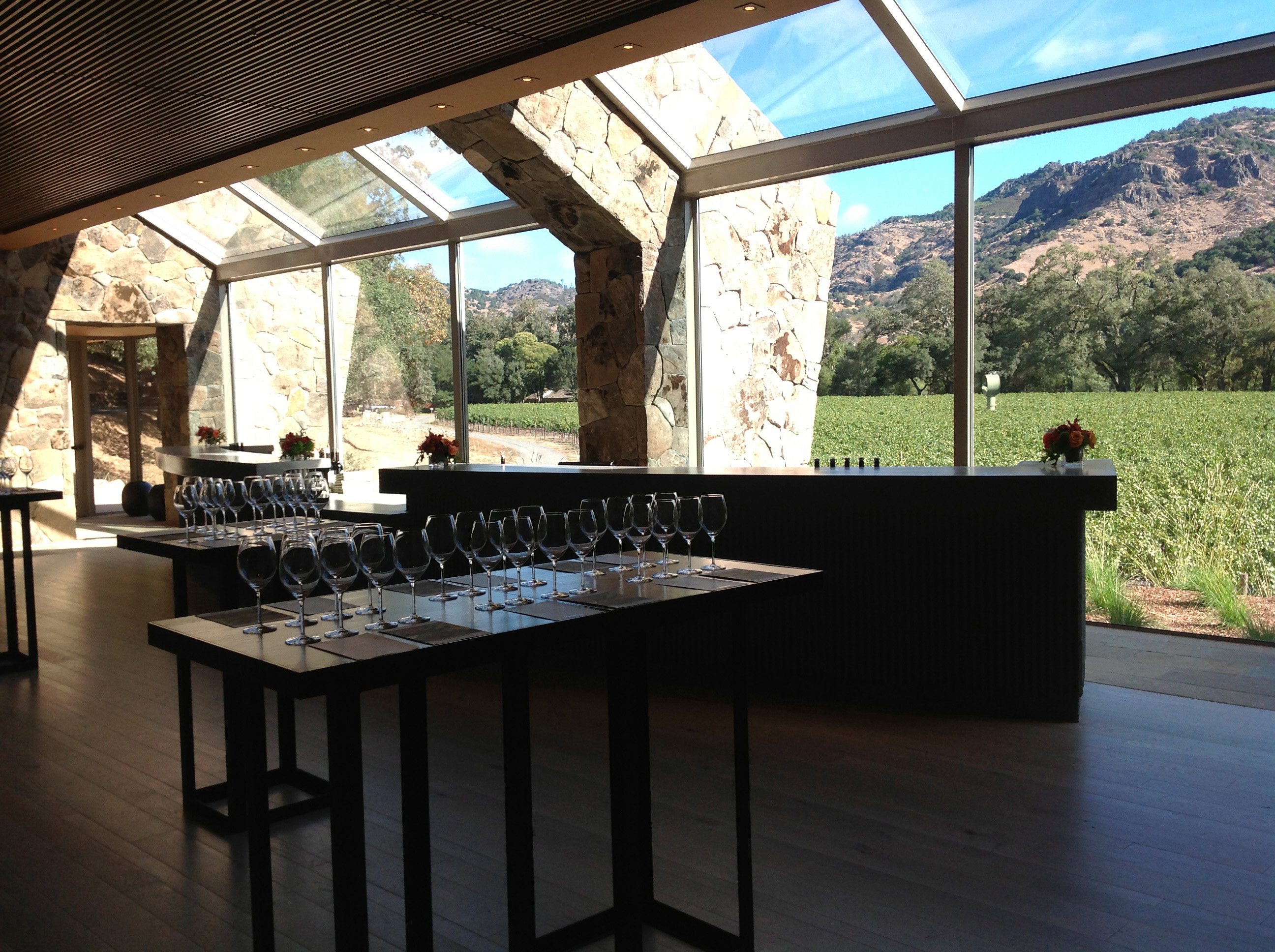 The FAY Outlook & Visitor Center possesses one of the best views in the Napa Valley as it overlooks the famous FAY Vineyard and the Stags Leap Palisades.