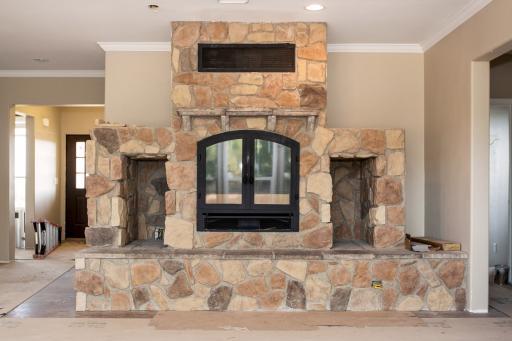 The Linn family's fireplace