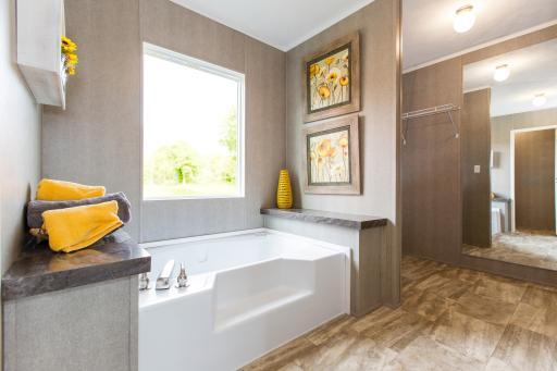 The Breeze II's spa-like bathroom