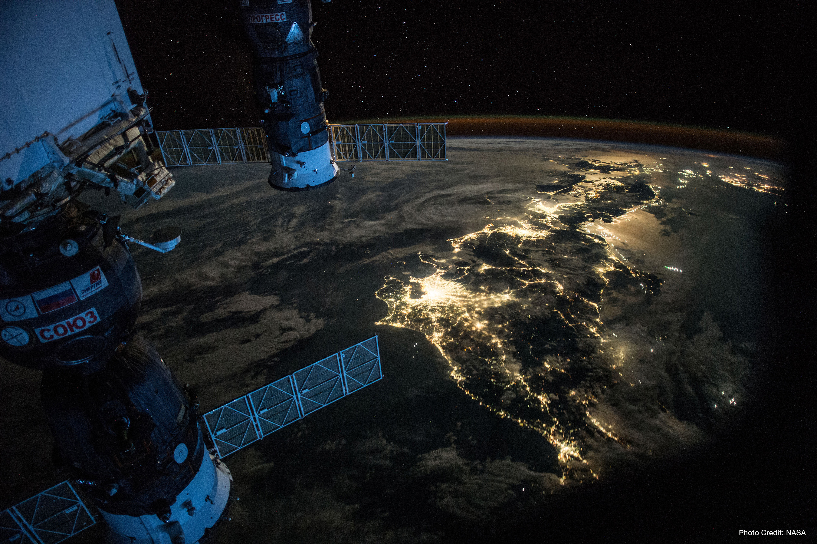 Night Earth observation of Japan taken by Expedition 44 crew member Scott Kelly. Photo credit: NASA.