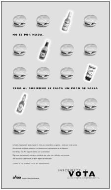 VOTO ad developed by Sanchez & Levitan, Spanish Version