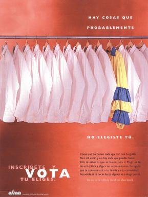 VOTO ad developed by Casanova Pendrill