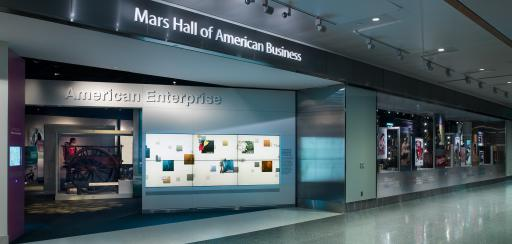 Entrance to American Enterprise in the Mars Hall of American Business