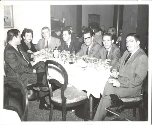 El Liborio restaurant 1963, Luis Diaz-Albertini, Pres. of SAMS, Sara Sunshine, VP of SAMS and others