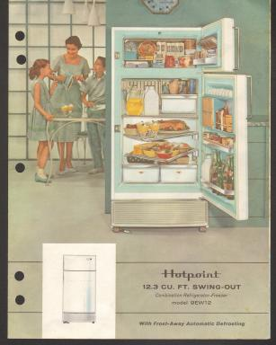 Hotpoint Refrigerator and product literature, 1959 – 1961