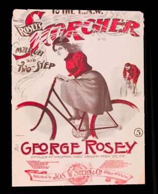 Scorcher March and Two Step sheet music, 1897