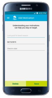 Screenshot: Motivation