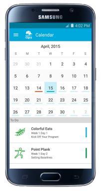 Screenshot: Calendar
