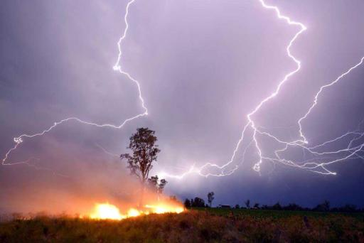 Lightning strikes are a major cause of wildland fires