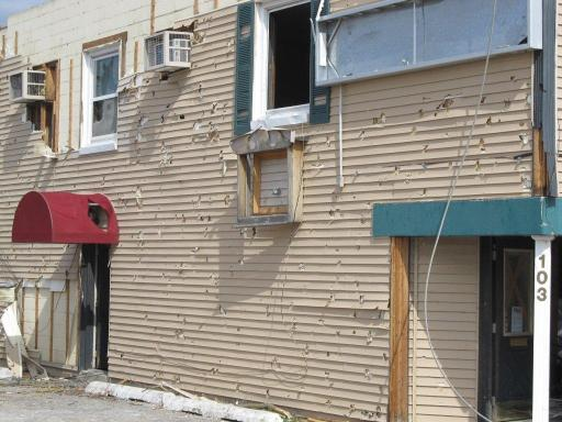 Hail Damage to Siding and Windows
